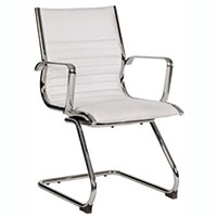 COGRA CANTILEVER CHAIR LEATHER PU WHITE