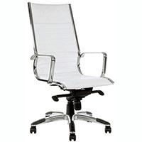 COGRA OFFICE CHAIR HIGH BACK PU WHITE