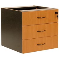 OXLEY 3 DRAWER FIXED PEDESTAL 472 X 470 X 450MM BEECH/IRONSTONE