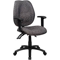 YS DESIGN SABINA TASK CHAIR HIGH BACK WITH ARMS GREY