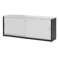 OXLEY CREDENZA 1200 X 450 X 730MM WHITE/IRONSTONE