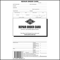 ZIONS ROC REPAIR ORDER CARDS PACK 250